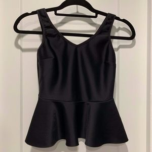 Topshop Black Scuba Peplum Top